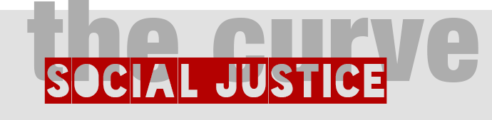 graphic logo for Social Justice The Curve BLOG